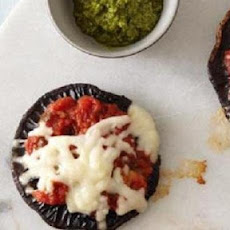 Portobello Mushroom and Sausage Pizzas