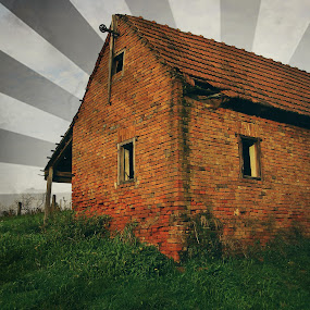 Waiting by Kaja Radošević - Buildings & Architecture Decaying & Abandoned ( old house, meadow, past )