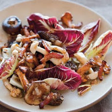 Warm Wild Mushroom Salad with Bacon Vinaigrette