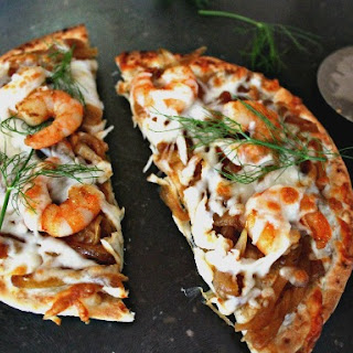 Pizza with Spicy Shrimp and Fennel Onion Chutney