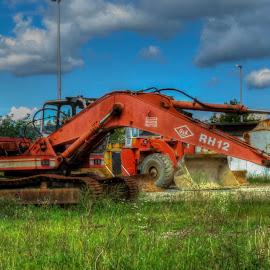 The Machine by Bojan Bilas - Transportation Other ( technology, transportation, caterpillar, industry, blue, orange. color,  )