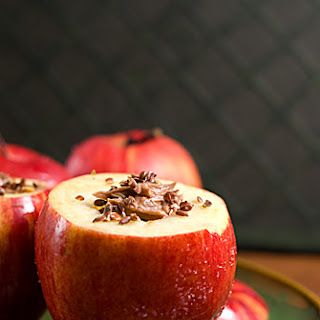 Almond Butter Baked Apples