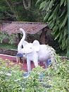 White Elephant Statue