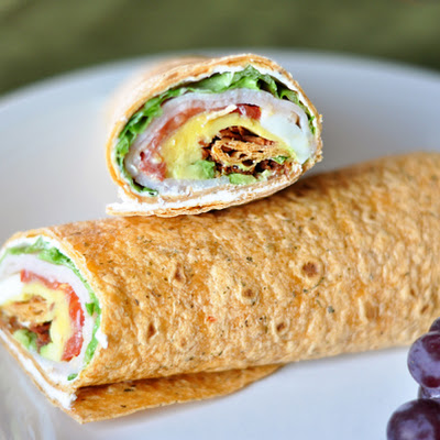 Smoked Turkey Cobb Wraps