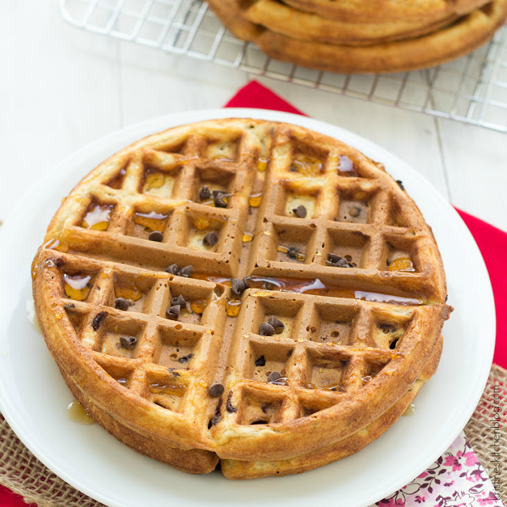Healthy Chocolate Chip Waffles Recipe | Yummly