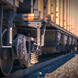 long line by Terry Fultineer - Transportation Trains