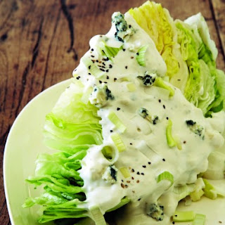 Chilled Iceberg Wedge with Blue Cheese and Leeks