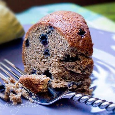 Banana Blueberry Muffin Cake