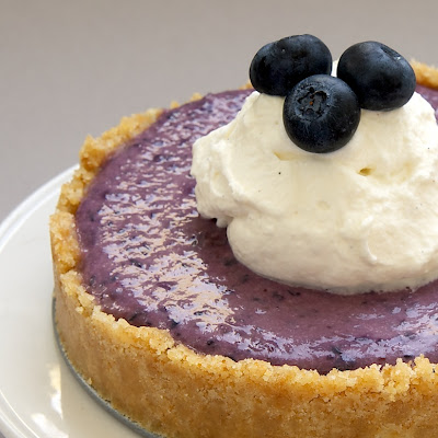 No-Bake Blueberry Cheesecakes