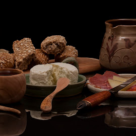 Medieval lunch by Keith Reling - Food & Drink Meats & Cheeses ( cuisine, cheese, meats, Food & Beverage, meal, Eat & Drink )