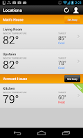 Screenshot of EnergyHub Thermostat
