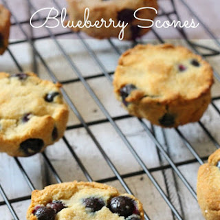 Grain Free Blueberry Scones Recipe (Paleo)