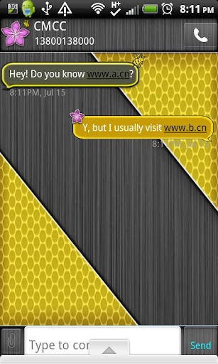 GO SMS THEME PurpleBee