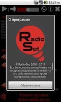 Screenshot of RADIO-SET