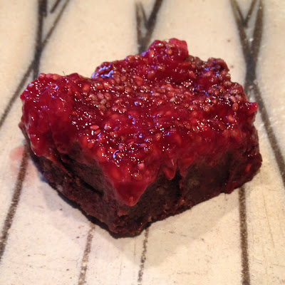 Raw Raspberry Brownies
