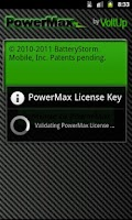 Screenshot of PowerMax License Key