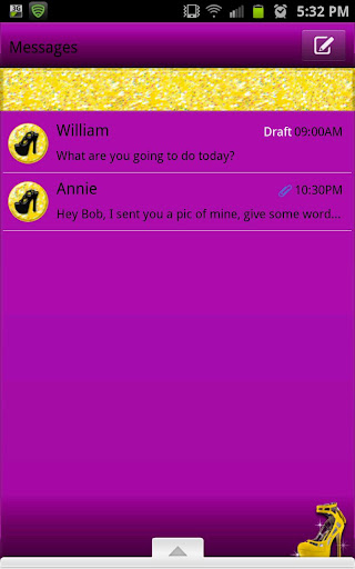 GO SMS - Yellow Stilettos