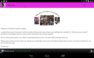 Screenshot of Shellys Yankee Candles