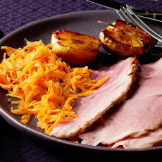 Glazed Ham With Roasted Apples