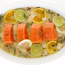 Citrus-Poached Salmon With Dijon Mustard Sauce Recipe