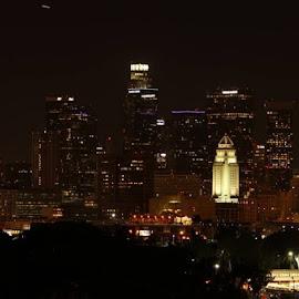 Los Angeles California Skyline by Frank Enriquez - City,  Street & Park  Skylines (  )