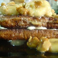 Banana Walnut Stuffed French Toast
