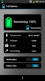 Full Battery & Alarm - screenshot