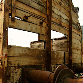 Old train car by Cecilie Hansteensen - Transportation Trains ( old, rjukan, train car, transportation, heavy water, trains, war, norway,  )
