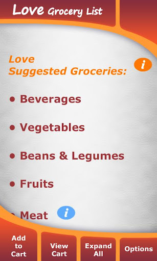 Love Grocery List