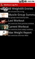 Screenshot of Workout Log Pro