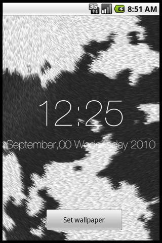 NYUGYU Clock Live Wallpaper
