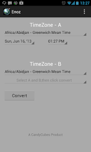 Enoz-Timezone Convertion - screenshot