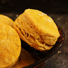 Pumpkin biscuits by Vrinda Mahesh - Food & Drink Cooking & Baking ( pumpkin biscuit, pumpkin, food, holiday baking, scones, fall baking, food in basket, baking, rustic, baked, biscuits )