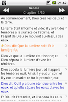 Screenshot of La Sainte Bible, Louis Segond