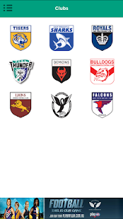 The Official WAFL app- screenshot