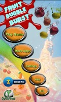 Screenshot of Fruit Bubble Burst Free