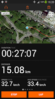 Screenshot of Sports Tracker Running Cycling