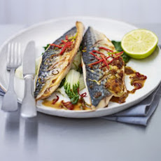 Grilled Mackerel With Sweet Soy Glaze