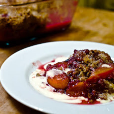 Bourbon Peach and Raspberry Crisp
