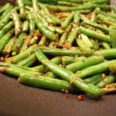 Spicy Stir-Fried Green Beans and Scallions