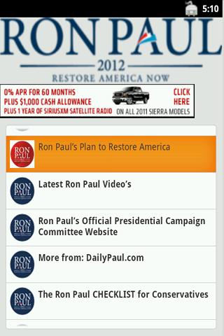 Ron Paul - The App
