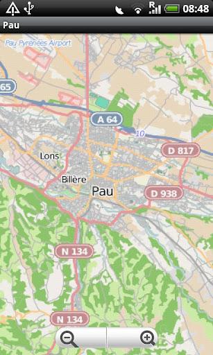 Pau Street Map
