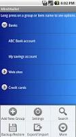 Screenshot of MindWallet - Password Manager