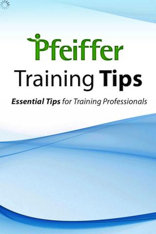 Pfeiffer Training Tips