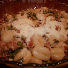 Potato Gnocchi With Pancetta, Peas and Sage