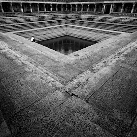 I pray to Thee.. by J P - Buildings & Architecture Places of Worship ( temple, water tank, black and white, india, travel, architecture, worship, heritage )