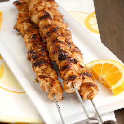 Orange Teriyaki Chicken Kebabs
