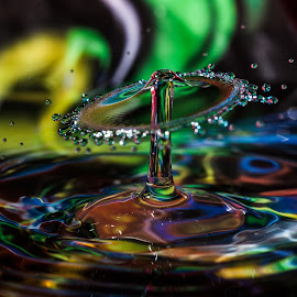 Waterfun by Wim Moons - Abstract Water Drops & Splashes ( waterdrop, color, splashe, abstrakt, fun )