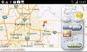 Screenshot of Talking Weather