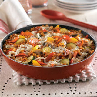 Pizza-style Rice Skillet